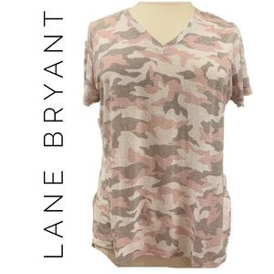 Lane Bryant | Pink Camouflage Tee | Size 14/16